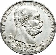 5 Mark - Ernst I (Jubilé d'Or) – avers