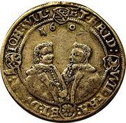 ½ thaler Johann Philipp I, Friedrich VIII, Johann Wilhelm IV and Friedrich Wilhelm II – revers