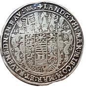 1 taler Johann Philipp, Friedrich, Johann Wilhelm et Friedrich Wilhelm II. – revers