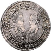 Saxe-Altenburg Thaler 1606 Dav. 7361 4 brothers – avers