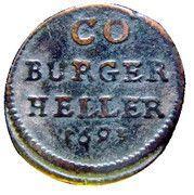 1 heller Albrecht III – revers
