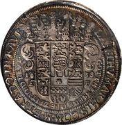 1 thaler Johann Ernst II – revers