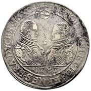 1 thaler Johann Casimir & Johann Ernst II – avers
