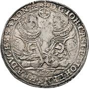 1 Thaler -  Johann Casimir and Johann Ernst – avers