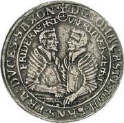 ½ Thaler - Johann Casimir and Johann Ernst – avers