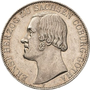 2 Thaler / 3½ Gulden - Ernst II – avers
