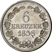 6 kreuzer Ernst I. – revers