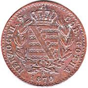 2 Pfennige - Ernst II – avers