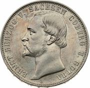 1 Vereinsthaler - Ernst II (Jubilé d'argent) – avers