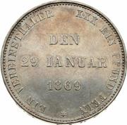 1 Vereinsthaler - Ernst II (Jubilé d'argent) – revers