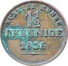 1½ Pfennig - Ernst I – revers