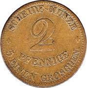 2 Pfennige - Ernst II – revers