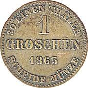 1 Groschen - Ernst II – revers