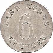 6 Kreuzer - Ernst I – revers