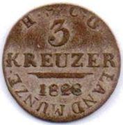 3 Kreuzer - Ernst I – revers