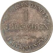 1 Groschen - Ernst I – revers