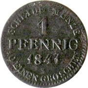1 Pfennig - Ernst I – revers