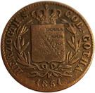 1 Pfennig - Ernst II – avers