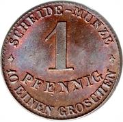 1 Pfennig - Ernst II – revers