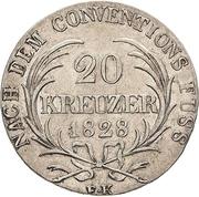 20 kreuzer Ernst I – revers