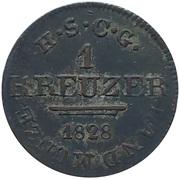 1 kreuzer Ernst I – revers