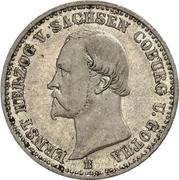 ⅙ Thaler - Ernst II (Jubilé d'Or) – avers
