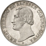 1 Thaler - Ernst II – avers