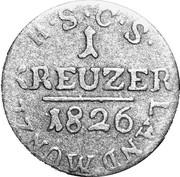 1 Kreuzer - Ernst I – revers
