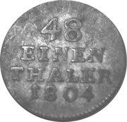 1/48 thaler Franz Friedrich Anton – revers