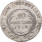 20 Kreuzer - Ernst I – revers