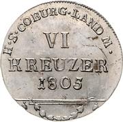 6 Kreuzer - Franz – revers