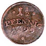 1½ Pfennig - Ernst Friedrich – revers