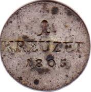 1 kreuzer Franz Friedrich Anton – revers
