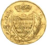 6 kreuzer Franz Friedrich Anton (Frappe essai en or) – avers