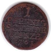 1 pfennig Franz Josias – revers