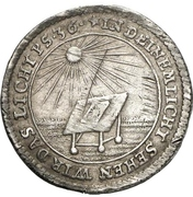 1 groschen Johann Wilhelm (Bicentennaire de la Réformation) – revers