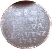 1 Pfennig - Friedrich III – revers
