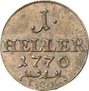 1 Heller - Friedrich III – revers