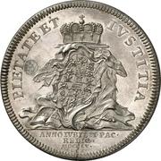 1 thaler Friedrich III. (Paix) – revers