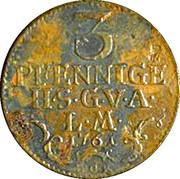 3 Pfennig - Friedrich III – revers