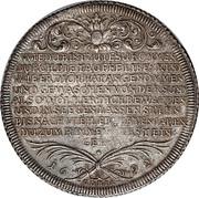 1 thaler  Frederick II  thaler de baptème – revers