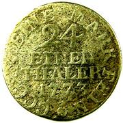 1/24 Thaler - Ernst II Ludwig – revers