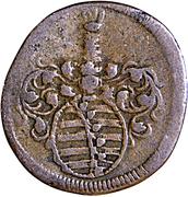 1 heller Friedrich II – avers
