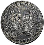 1 thaler Friedrich II Johann Wilhelm (Allégeance de Gotha) – avers