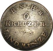 6 kreuzer Friedrich I – revers
