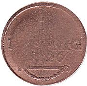 1 pfennig Friedrich I – revers