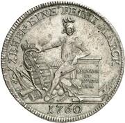 1 thaler Ernst Friedrich Karl – revers