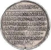 1 Thaler - August II. – revers