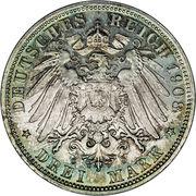 3 Mark - Georg II – revers