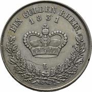 1 gulden Bernhard II – revers